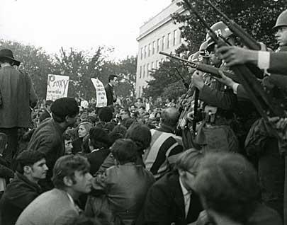 Vietnam War protest at Pentagon