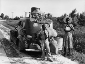 African American family leaves Florida