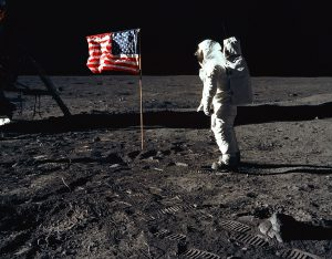 Buzz Aldrin walks on the Moon (1969)
