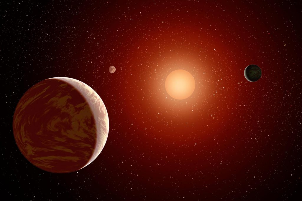 Planets Under a Red Sun