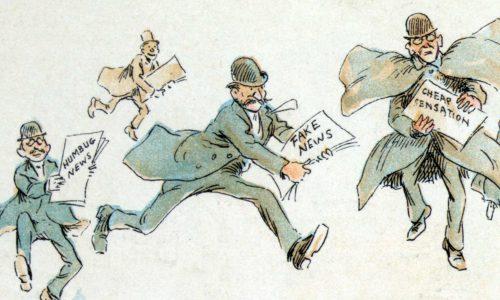 Fake news cartoon